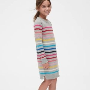 NWT Gap Crazy Stripe Sweater Dress girls XXL